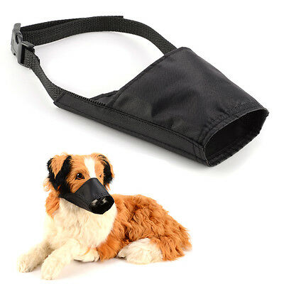 Safety Nylon Black Small Medium Large Extra Large Dog Muzzle Muzzel Adjustable