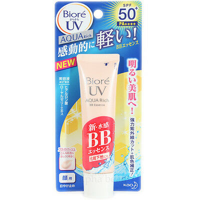 Kao Japan Biore UV Aqua Rich Watery BB Sunscreen Cream (33g/1.1oz) SPF50+ PA++++