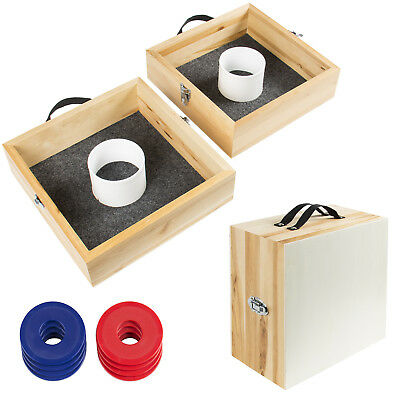Wood Washer Toss Game Set Outdoor Backyard Party Games