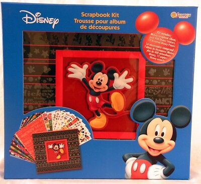 Disney Mickey Mouse Scrapbook Kit with Stickers/Papers FREE US Shipping