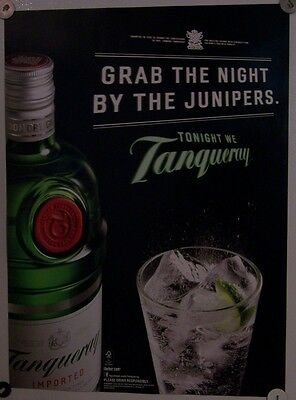 New Lot of 2 Store Display  Posters Ad Print Tonight We Tanqueray