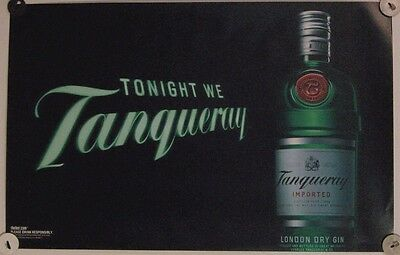 New Lot of 2 Store Display Decal Posters Ad Print Tonight We Tanqueray