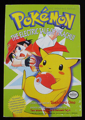 "Pokemon Graphic Novel Volume 1 ""Pokemon The Electric Tale of Pikachu"" Book"