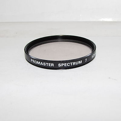 Used Promaster Spectrum 7 1A 52mm Lens Filter Made in Japan S233021