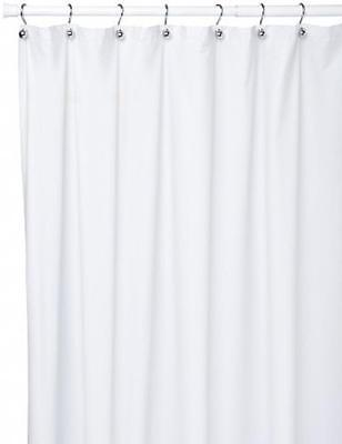 "108/"" Wx72/"" Super Clear Carnation Home Fashions Extra Wide 5-gauge Shower Liner"