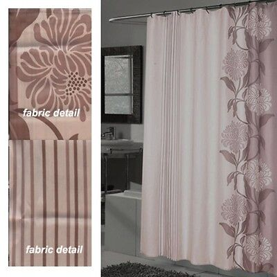 Chelsea Extra Long 100 Polyester Fabric Shower Curtain 70 X 84 Color MULTI