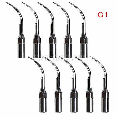 10PCS Dentista Tips INSERTI PUNTE PER ABLATORE Scaler EMS Woodpecker G1