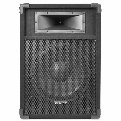 "Fenton 12"" CSA-12 Active Powered Karaoke PA Speaker Disco DJ Sound System 600W"