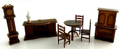 Melody Jane Dolls House Miniature 1:48 Plastic Dining Room Furniture Set Suite