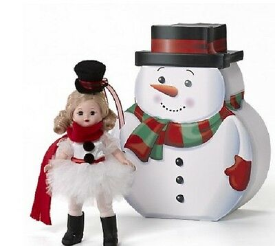 """New in Box ~ Madame Alexander ~ Holiday With Snowman Ballerina ~ 8"""" Girl Doll"""