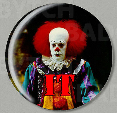 IT CLOWN PENNYWISE ROUND FRIDGE MAGNET - HORROR CLASSIC ! Style 'A'