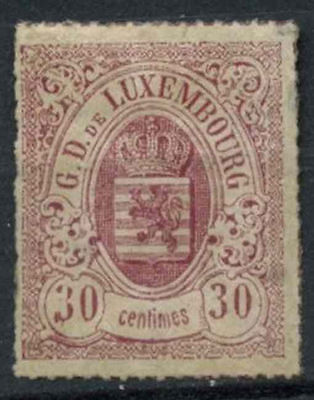 Luxembourg 1865-71 SG#34, 30c Claret MH Cat £1200 #A90862