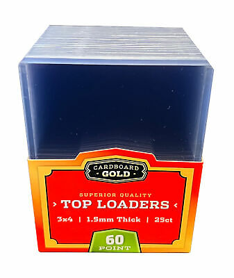 (500) 1 CASE 1.5MM CBG THICK TRADING CARD STORAGE TOPLOADERS 60pt.
