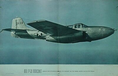 1945 Bell P-59 Airacomet Air Trails Poster