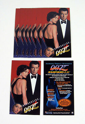 Lot of (10) 1998 Inkworks The Women of James Bond Promo Card (P2) Nm/Mt