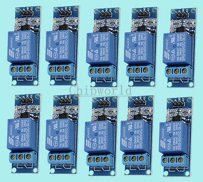 10pcs 5V 1 Channel Relay Module with Optocoupler For PIC AVR DSP ARM Arduino