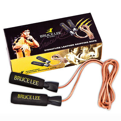 Bruce Lee Signature Leather Skipping Rope Jump Skip Cardio Weight Loss Toning