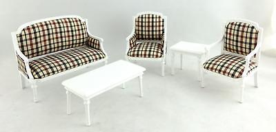 Melody Jane Dolls House Miniature Shabby Chic Suite Living Room Furniture Set