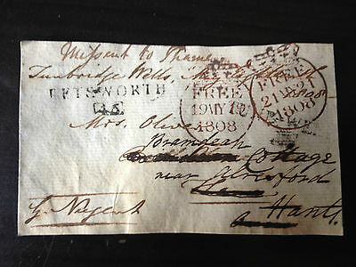 Sir George Nugent - Army Field Marshal - Many Conflicts - Signed Envelope Front