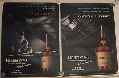 New Lot of 2 Store Display Paper Posters HENNESSY & NAS