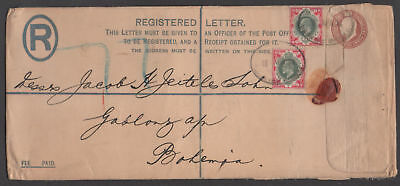 *Great Britain Registered Cover, HG# 31f, SC# 138x2, 1904