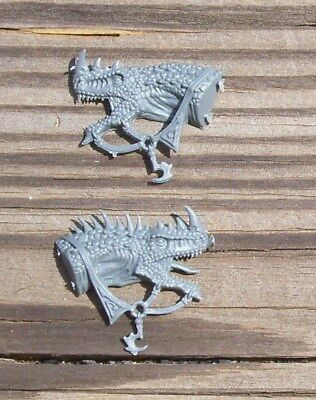 WFB Dark Elves Cold One Knights Champ Cold One Head Bits