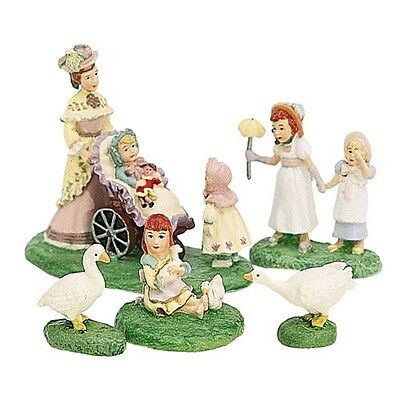 """DEPT 56 SEASONS BAY """"A STROLL IN THE PARK"""" RETIRED NEW SET OF 5 #53308"""