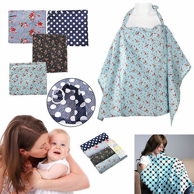 Baby Mum Breastfeeding Cover Nursing Apron Cover Up Baby Poncho Cotton Shawl