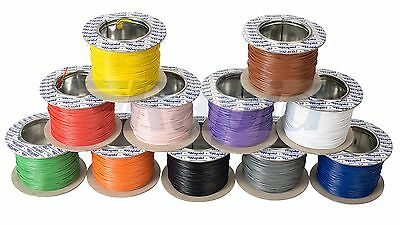 Rapid 10/0.1mm Electrical Equipment Wire Cable (100m Reel) - 11 Colour Options