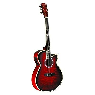 INDIANA Madison Deluxe Quilt Red MAD-QTRD Electric Guitar NEW