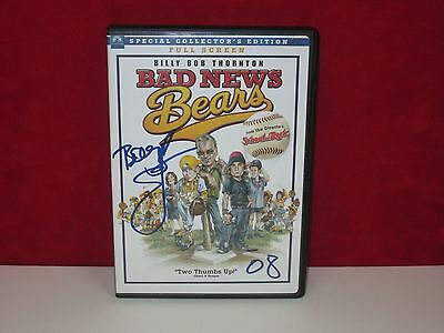 BILLY BOB THORNTON Signed Autograph DVD Cover Bad News Bears