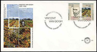 Netherlands 1990 Vincent Van Gogh FDC First Day Cover #C27959