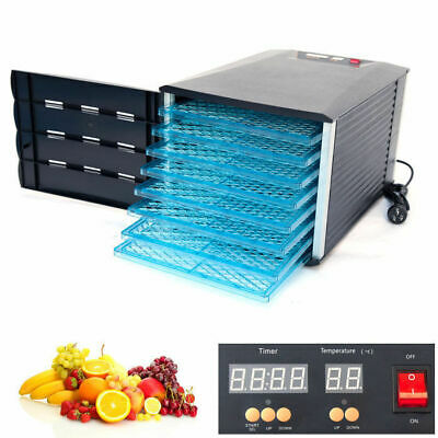 New Design 8 Tray Food Fruit Dehydrator With Door and Timer Dryer