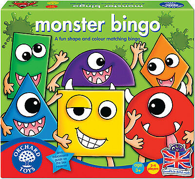 Orchard Toys MONSTER BINGO Baby/Toddler/Child Board Game Education BN