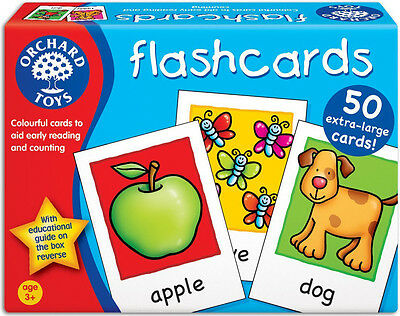 Orchard Toys FLASHCARDS Baby/Toddler/Child Counting Reading Game Education - New