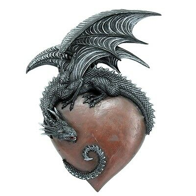 "Nib 12"" H Dragon Heart Wall Decor Plaque C8"