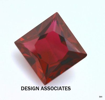 5 Mm Square Cut Man Made Ruby  Aaa Grade 2 Pc Set