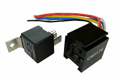 TEMCo 12 V 60/80 Amp Bosch Style S Relay with Harness Socket Automotive