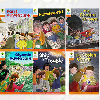 Oxford Reading Tree, Level 6: More Stories B, 6 Books Collection set (Homework!)