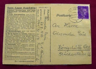1942 AUSCHWITZ Concentration Camp REPORT CLERK Holocaust Survivor ERWIN OLSZOWKA