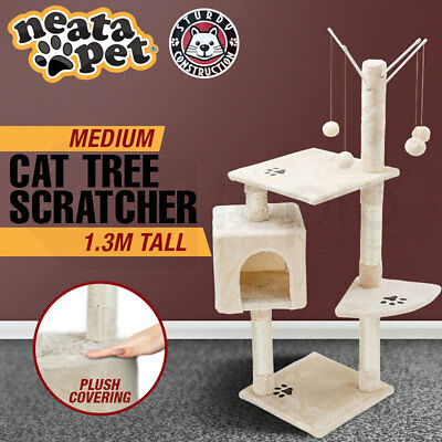 NEATAPET Cat Tree House Scratching Post Pole Furniture Scratcher Medium NEW