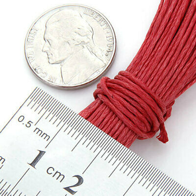 45M 1 mm Red Beading Bracelets Necklace Waxed Cotton Cord String Jewlery Making
