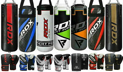 RDX 2FT Filled Kids Punch Bag Kit Boxing Set Gloves Kick Junior Children Mitts B