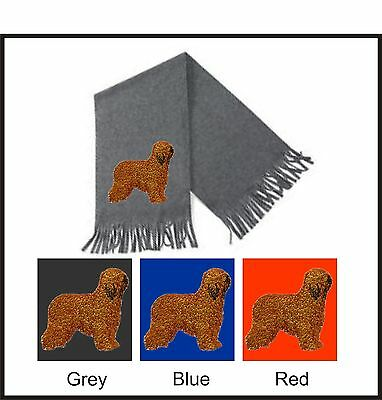 Briard Scarf Perfect Gift Embroidered by Dogmania