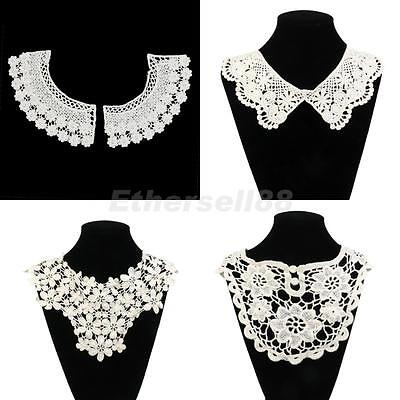 4pcs Fashion Peter Pan Collars Cotton Hand Crochet Flower Sewing Necklace