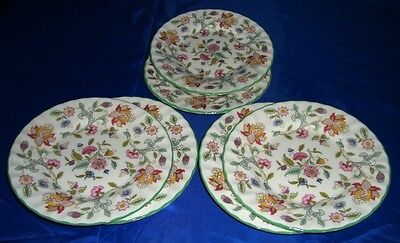"""Superb Minton Haddon Hall Lunch Plates 23cm, 9"""" individually sold"""