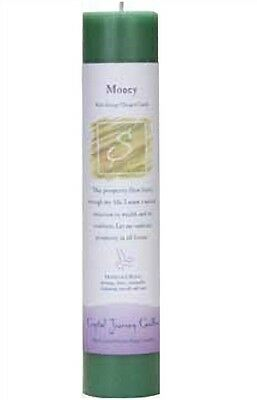 "Crystal Journey MONEY Herbal Magic Charged Reiki Pillar Candle, 7"" (Wealth)"