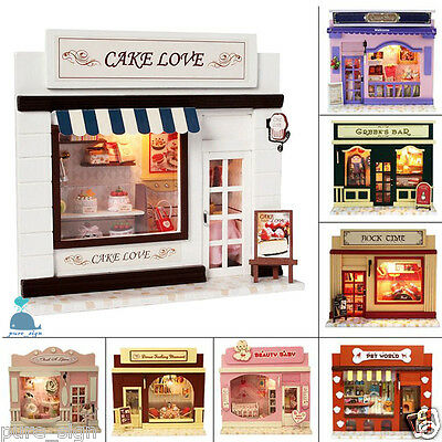 DIY Handcraft Wooden Project Wooden Dolls House European Miniature Shop Series