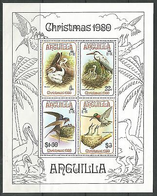 ANGUILLA. 1980. Christmas Birds Miniature Sheet. SG: MS420. Mint Never Hinged.