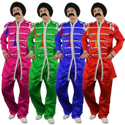 Sergeant Pepper Mens Costume 1960S English Boy Rock Band Outfit Fancy Dress